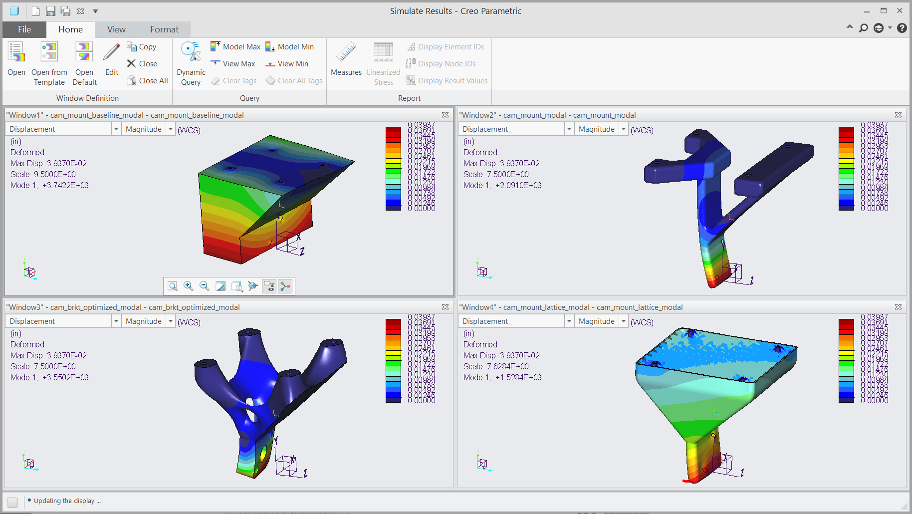 Creo Simulate Structural Optimization Comparison Fastway Engineering